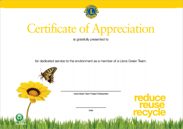 sample certificate of appreciation pdf