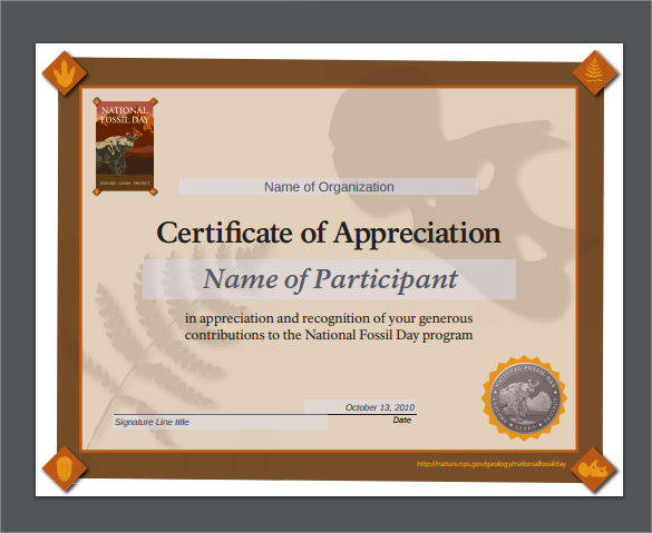 Certificate of appreciation ppt fieldstation certificate of appreciation template yadclub Choice Image