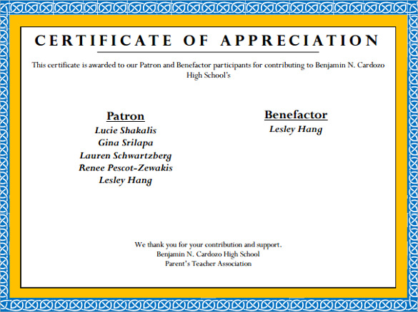 free sample certificate of appreciation template