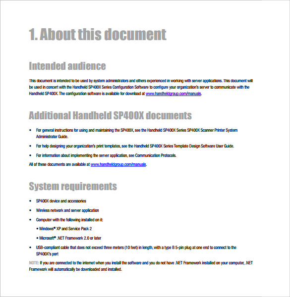 Sample User Manual   Documents In Pdf