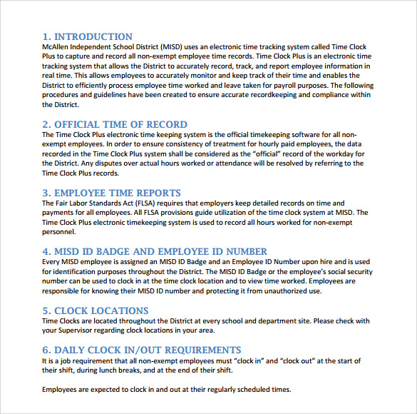 Sample Procedure Manual - 7+ Documents in PDF, Word