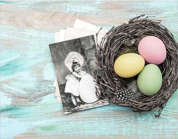 easter egg and vintage poistcard1