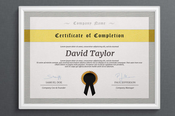 downloadable certificate of completion template