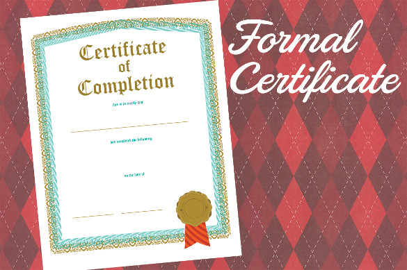 best certificate of completion template