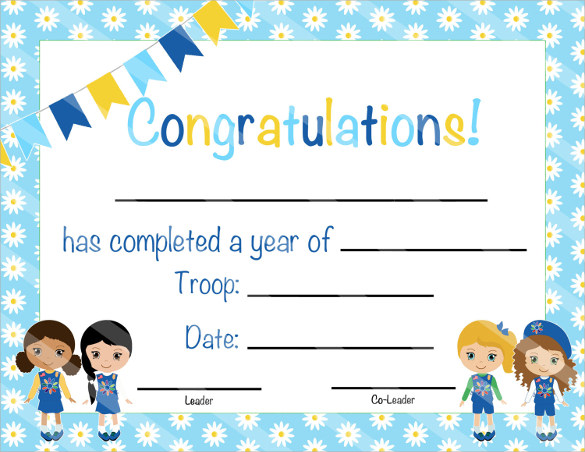 certificate of completion template to download