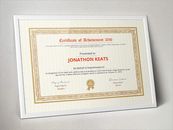 certificate of completion template to print