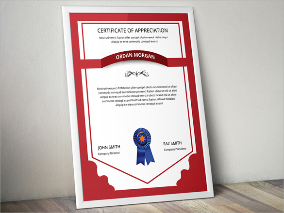 certificate of completion template design