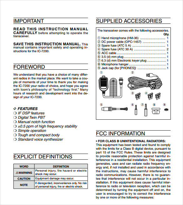 Instruction Manual Example  BesikEightyCo