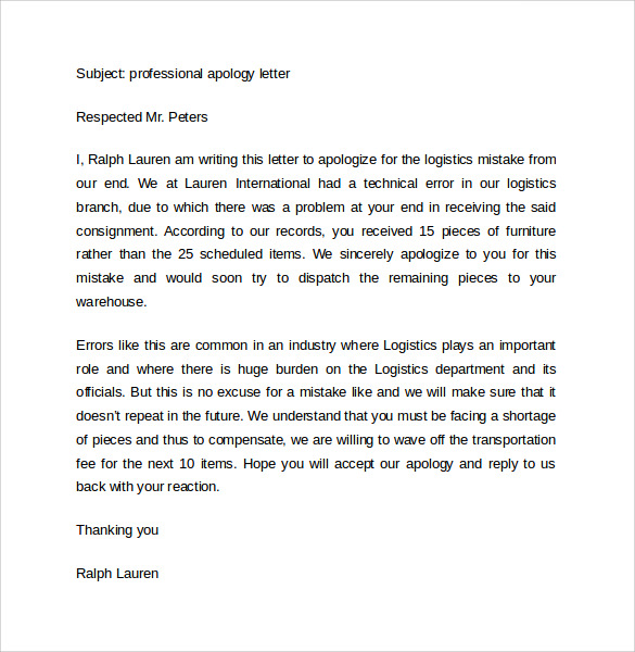 Sample Professional Letter Format 10 Free Documents In