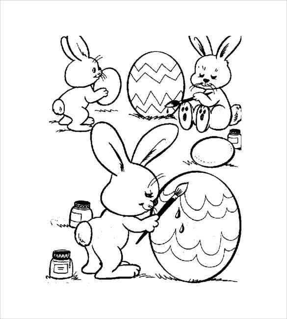 Easter Coloring Pages Printable Pdf : Easter coloring pages pdf freecoloring u