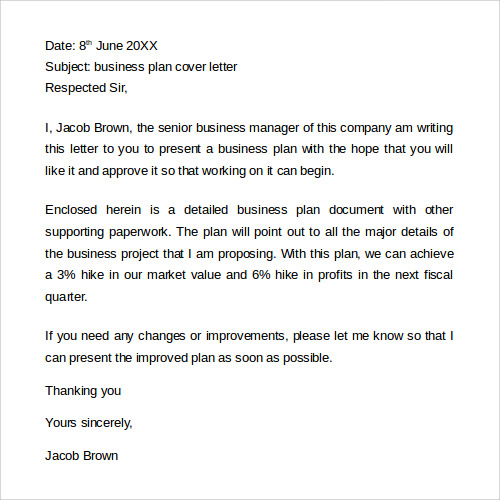 sample business plan cover letter1