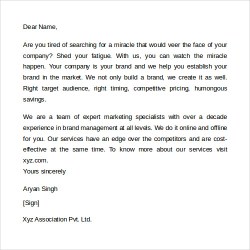 Letter dear sir madam yours sincerely        Original