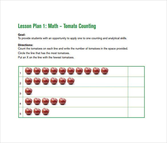 sample toddler lesson plan template