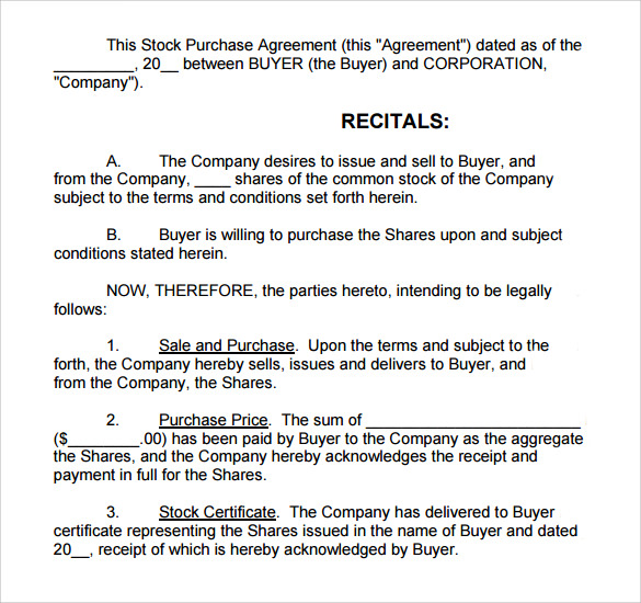 sample stock purchase agreement1