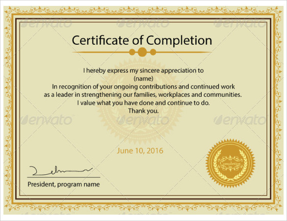 Printable Certificate Template - 13 + Download Free Documents in PDF ...