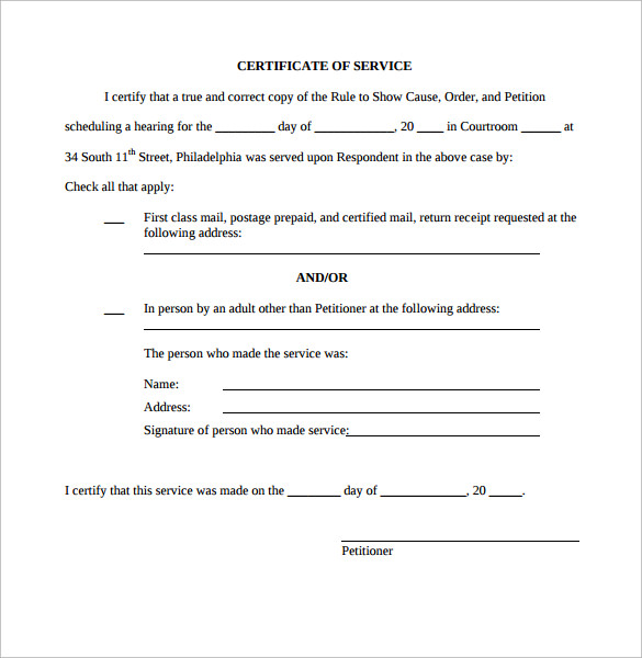 Certificate of service template 11 download free for Length of service certificate template