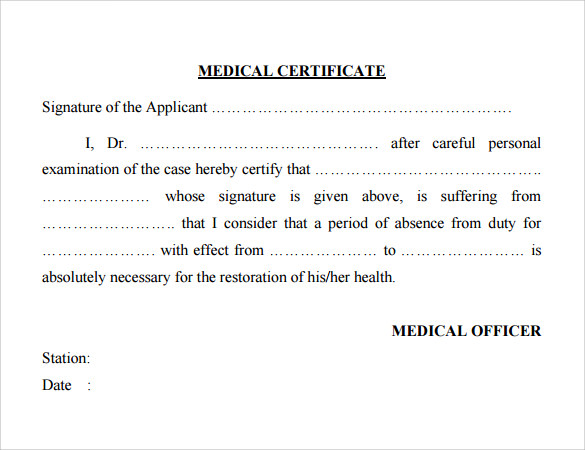 medical certificate for sports pdf