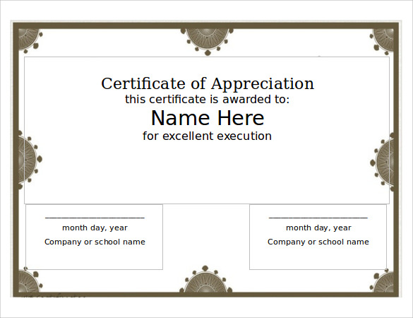 printable certificate templates