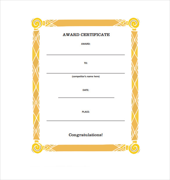 Congratulation Certificate   Download Free Documents In Pdf