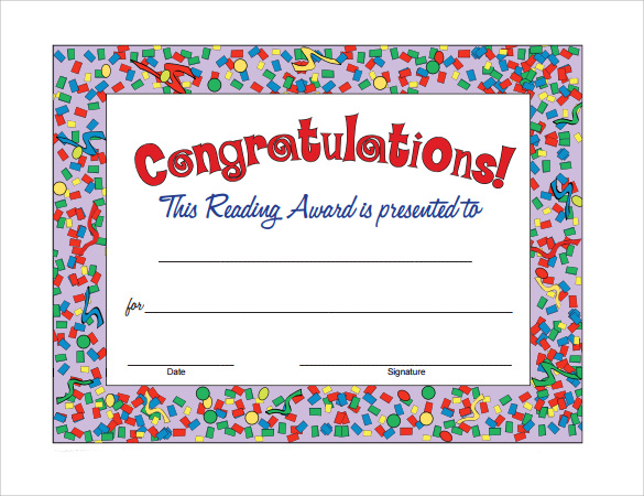 simple congratulation certificate