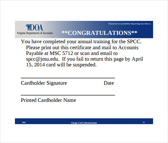 congratulation certificate standard