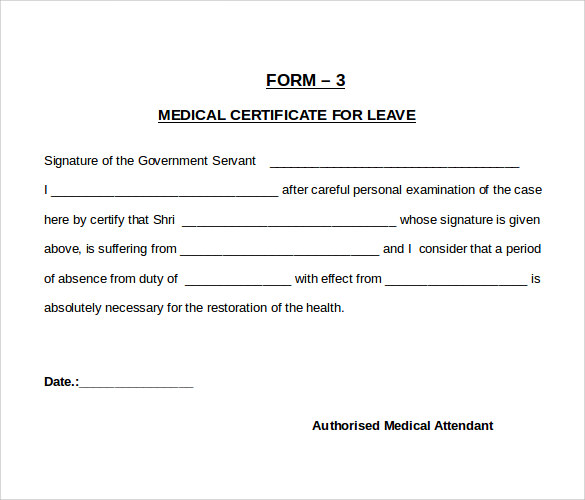Sample Medical Certificate 27 Download Documents in PDF Word – Medical Certificate Form