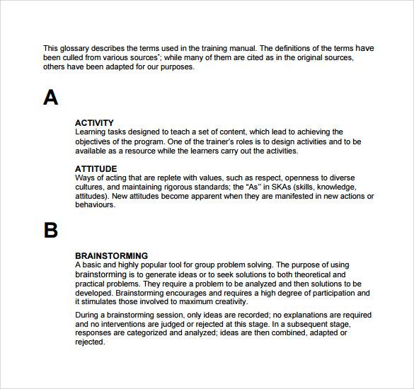 8 Training Manual Templates Free Sample Example Format – Sample Training Manual