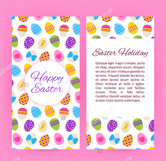 pink background easter brochure