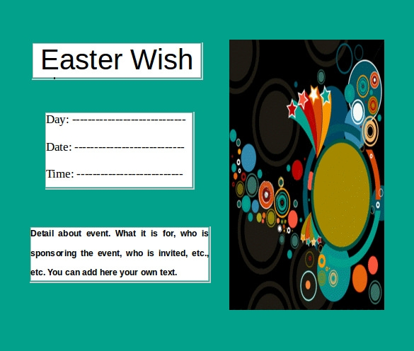 easter brochure word format free download