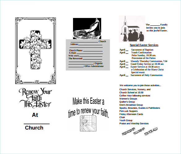 12 easter brochures sample templates for Church brochure templates free