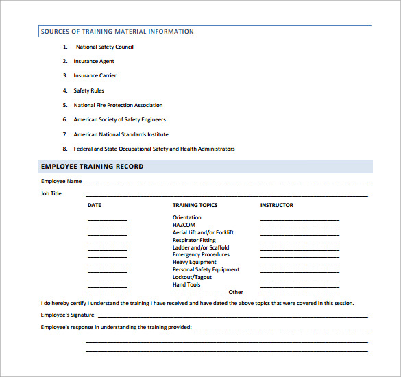 Sample Safety Manual Template 9 Free Documents in PDF – Sample Safety Manual Template