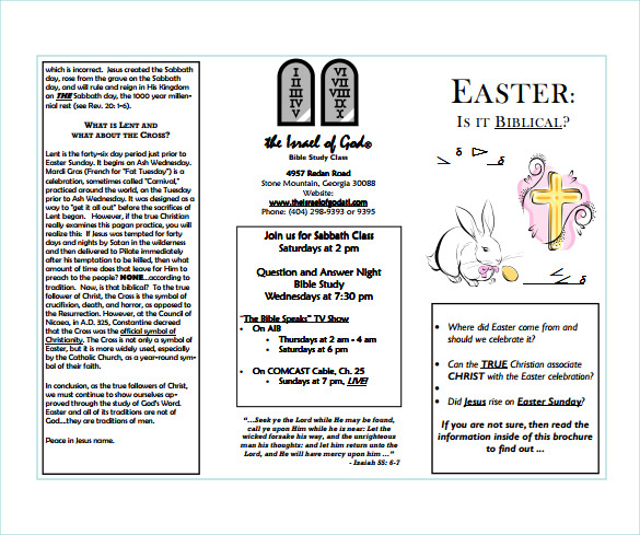 easter brochure example template free download