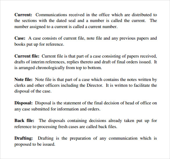 Office Manual Sample   Documents In Pdf Word