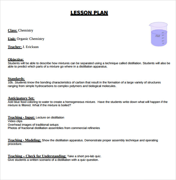 12  sample madeline hunter lesson plans