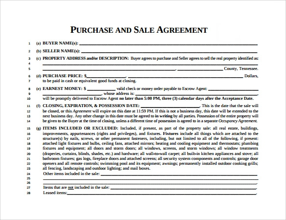 Sample Home Purchase Agreement 6 Documents in PDF Word – Home Purchase Agreement Template