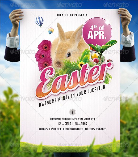 easter invitation template psd