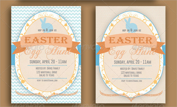 13 easter invitations templates  u2013 sample  examples