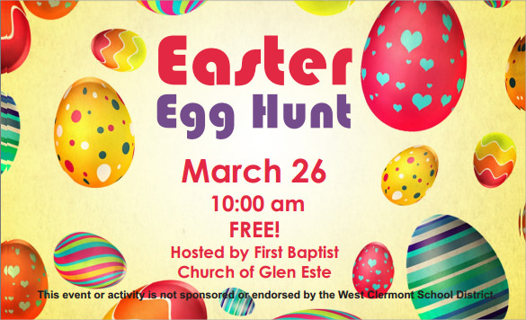 easter egg hunt invitation pdf