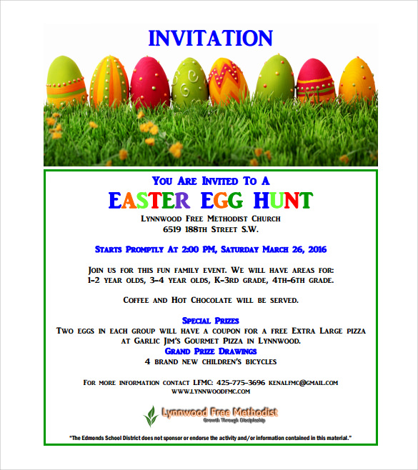free easter invitation pdf
