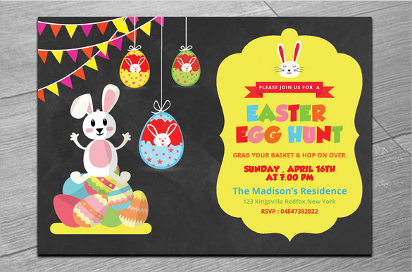 easter egg hunt party invitations template