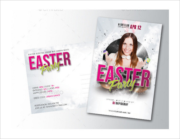 Easter Postcard Template   Samples  Examples  Format