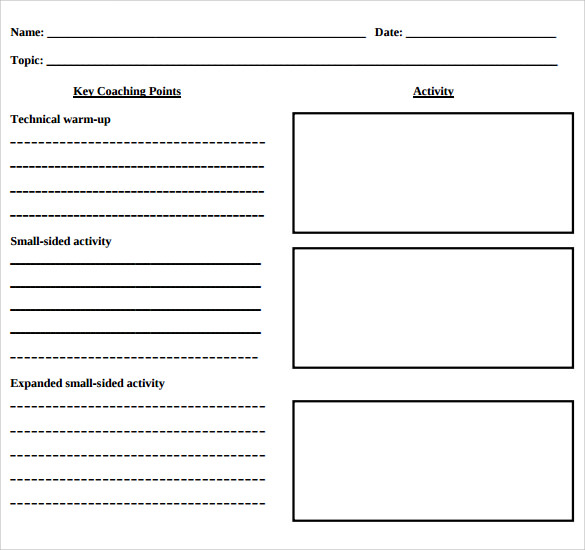 12 Blank Lesson Plan Templates – Samples, Examples ...
