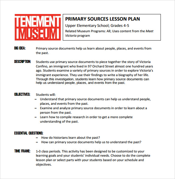 elementary school lesson plan