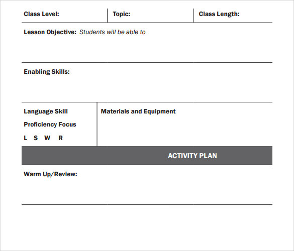 standard blank plan template 1