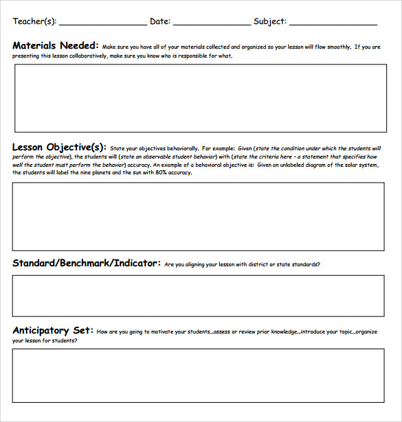 blank lesson plan template 3 free word documents download free