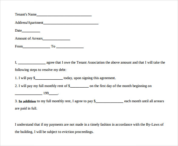 Sample Payment Agreement   Documents In Pdf
