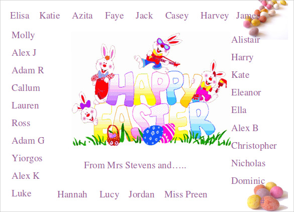 Easter Powerpoint Templates   Sample  Examples  Format