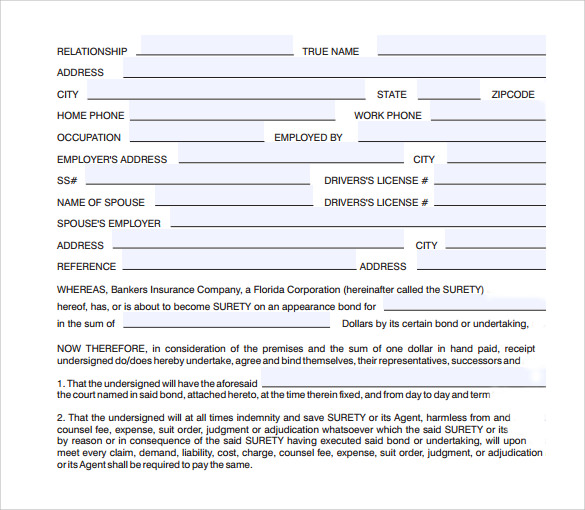 Superb Indemnity Agreement Sample  Indemnity Agreement Template