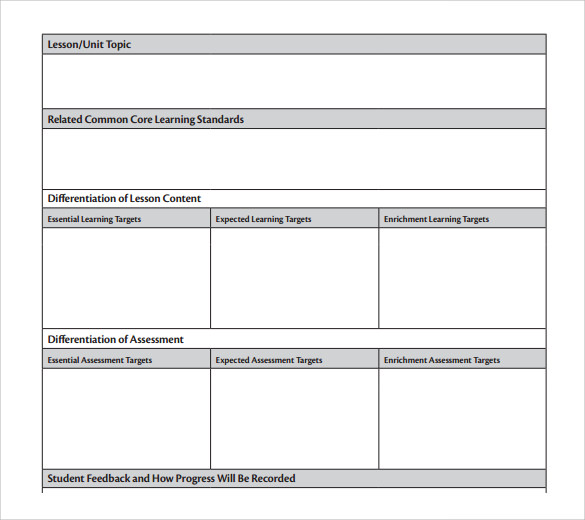 free download unit lesson template