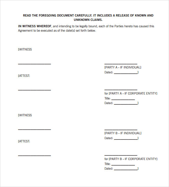 Sample Settlement Agreement 9 Documents In PDF Word – Mediation Agreement Template